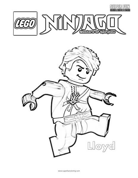 Lloyd Lego Ninjago Coloring Page - Super Fun Coloring