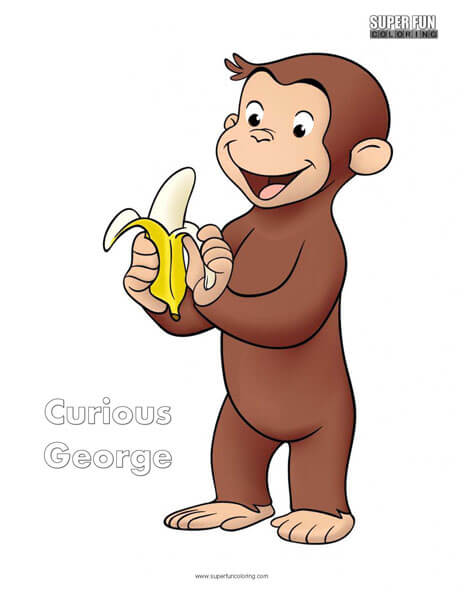 Curious George Book Coloring Page