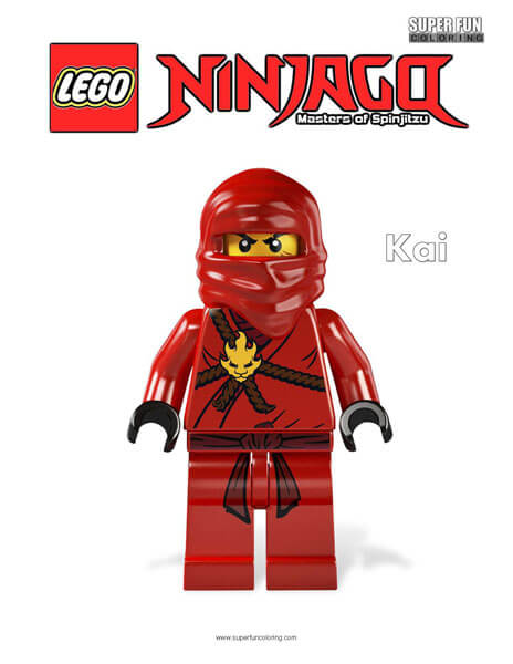 Lego Ninjago Coloring Pages - Super Fun Coloring