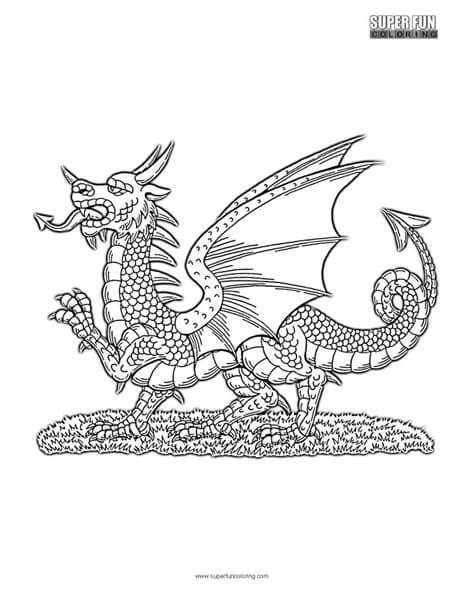 Red Dragon Coloring Page