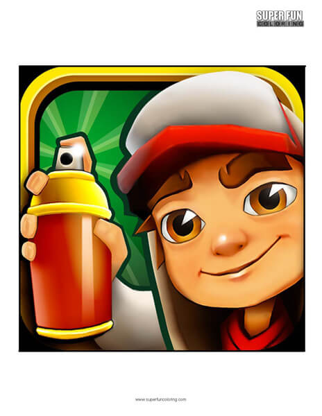 Subway Surfers App Coloring Page Android Iphone