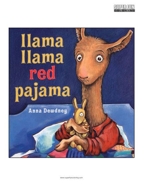 Llama Llama Book Coloring Page