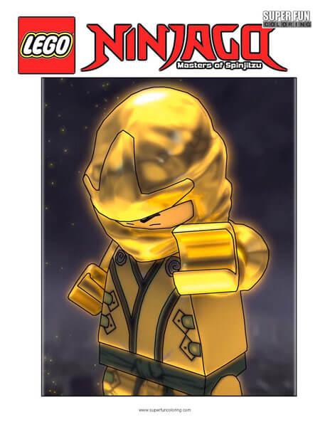 Ultimate Spinjitzu Master Lego Ninjago Coloring Page