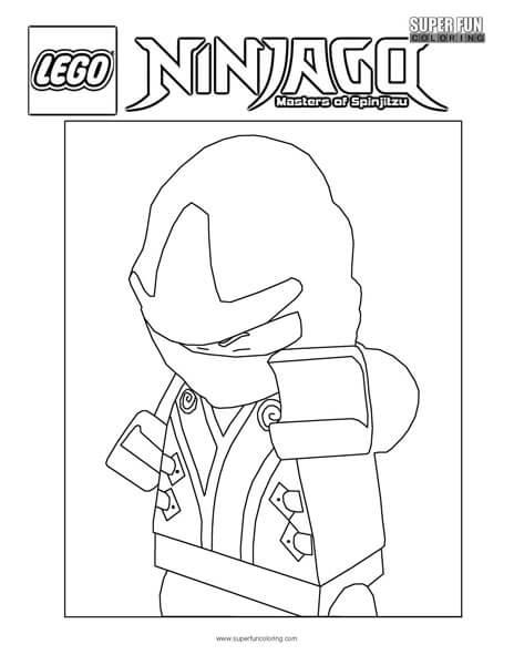 Ultimate Spinjitzu Lego Ninjago Coloring Page