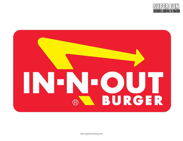In N Out Burger Coloring Page Free