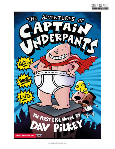 Captain Underpants  Book Coloring Page