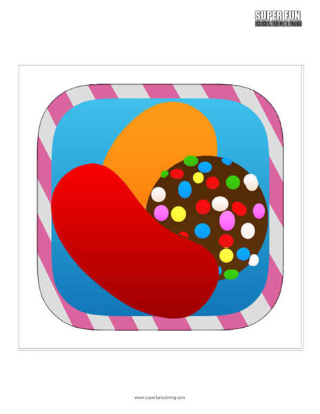 Candy Crush App Coloring Page Android Iphone
