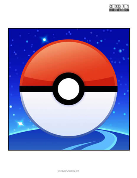 Pokemon Go App Coloring Page Android Iphone