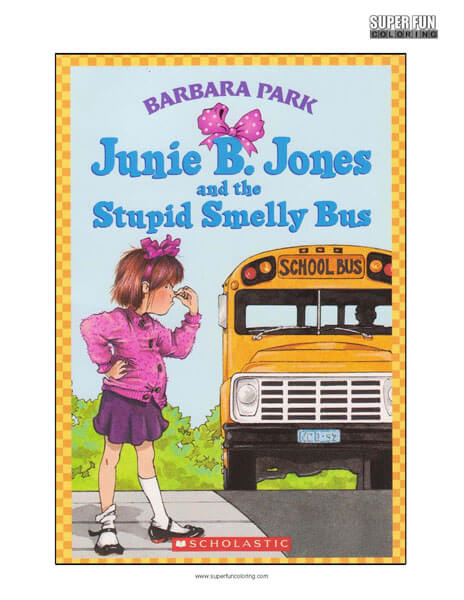 Junie B. Jones Book Coloring Page