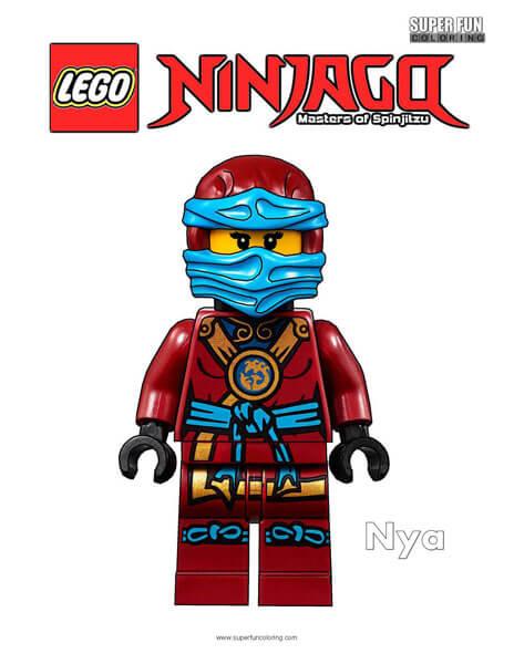 Nya Lego Ninjago Coloring Page