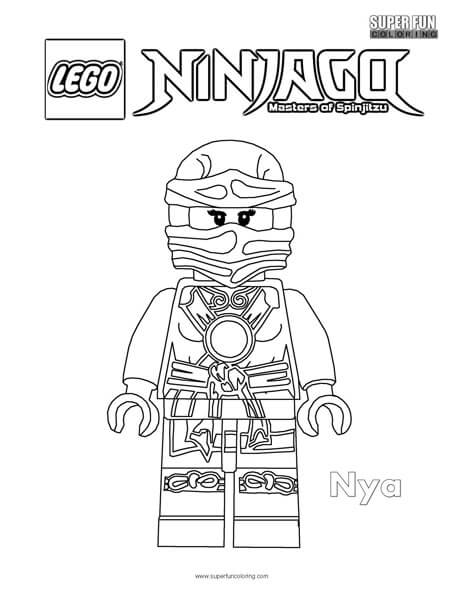 Nya Lego Ninjago Coloring Page Super Fun Coloring