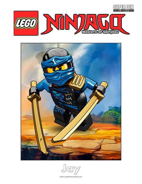 Jay Lego Ninjago Coloring Page