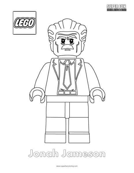 Jonah Jameson Minifigure Coloring Page