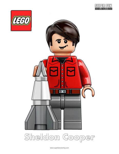Lego Sheldon Cooper Minifigure Coloring Page