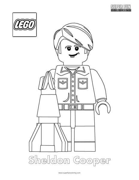 Sheldon Cooper Lego Minifigure Coloring Page
