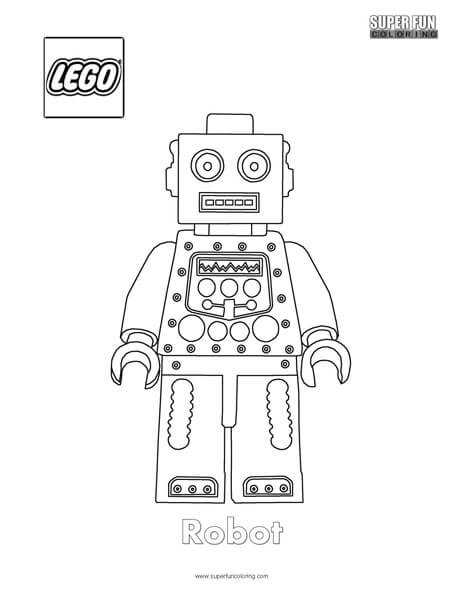 Robot Lego Lego Minifigure Coloring Page