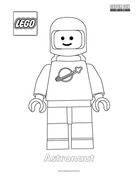 Astronaut Lego Lego Minifigure Coloring Page