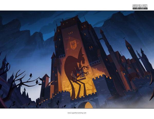 Hotel Transylvania Coloring Page