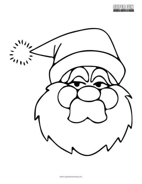 Santa Claus Christmas Coloring Page