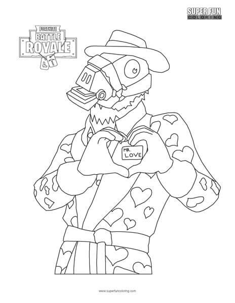 Fortnite Valentine's Day Coloring Page - Super Fun Coloring