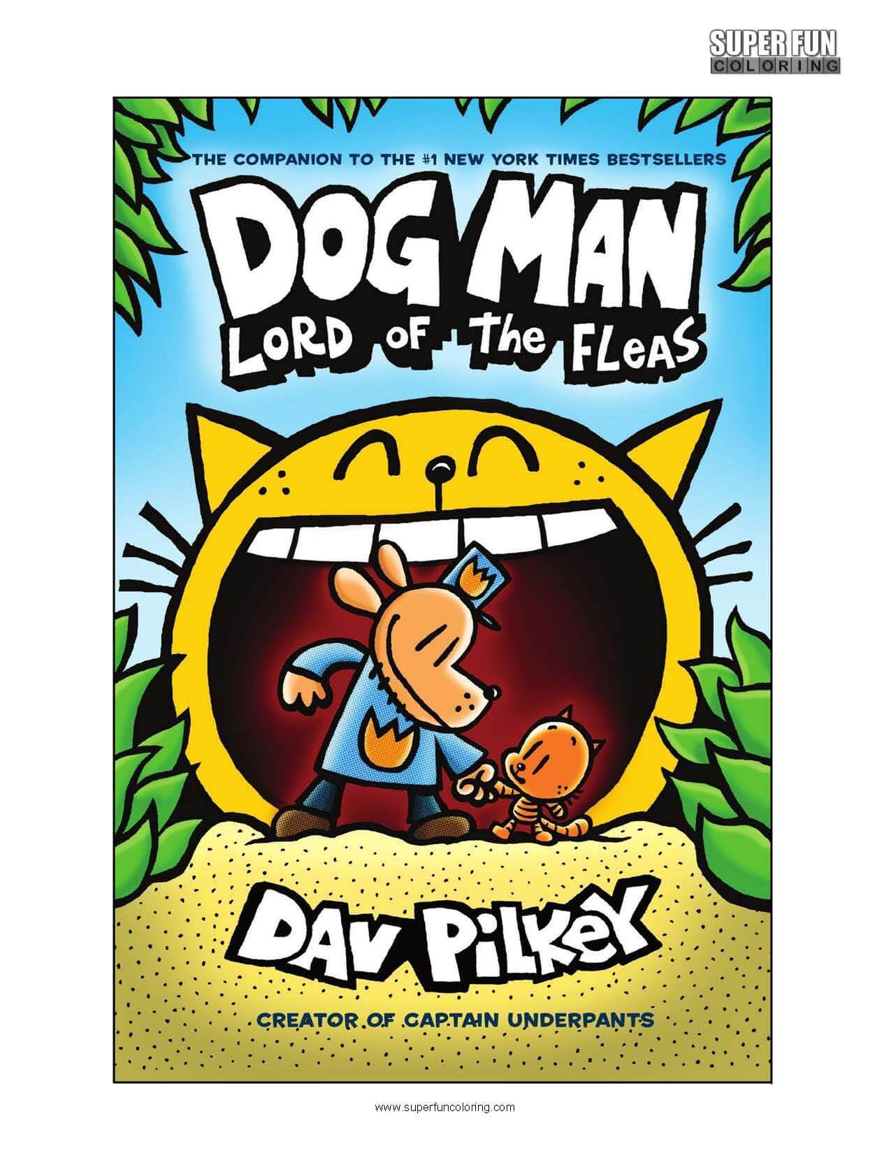 Dogman Book Coloring Page