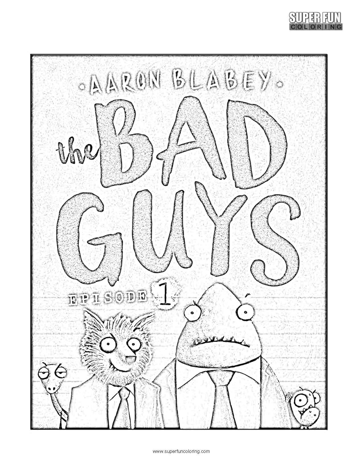 The Bad Guys Coloring Page phone app
