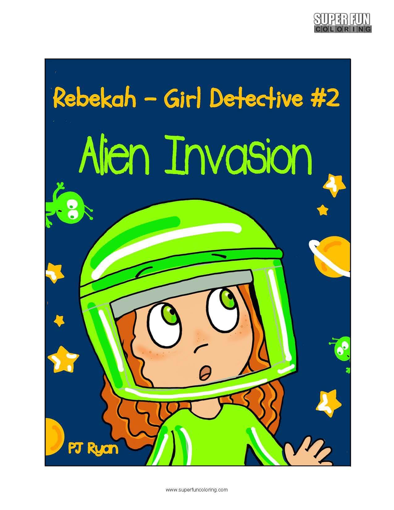 Rebekah Girl Detective Book Coloring Page