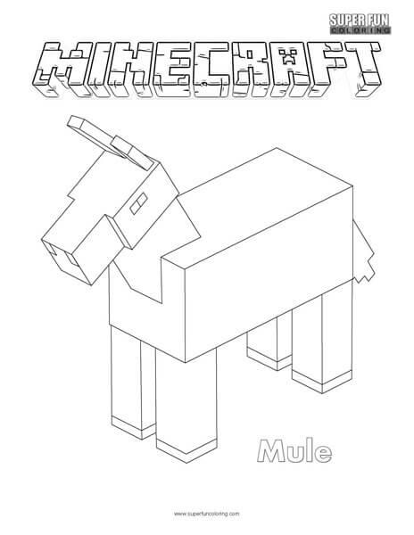 Mule Minecraft Coloring