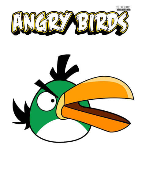 Green Bird Angry Birds Coloring Page