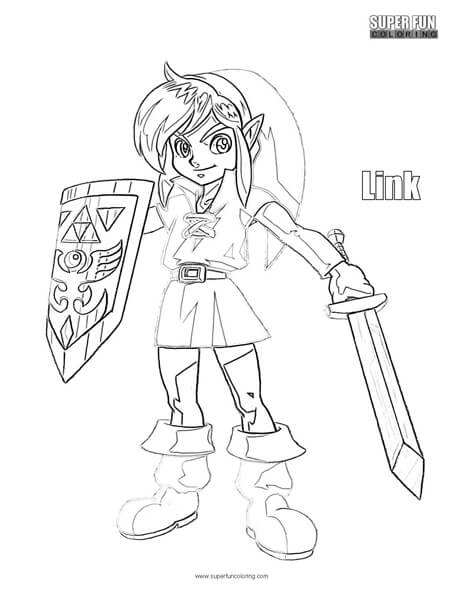 Link Coloring Page Super Fun Coloring
