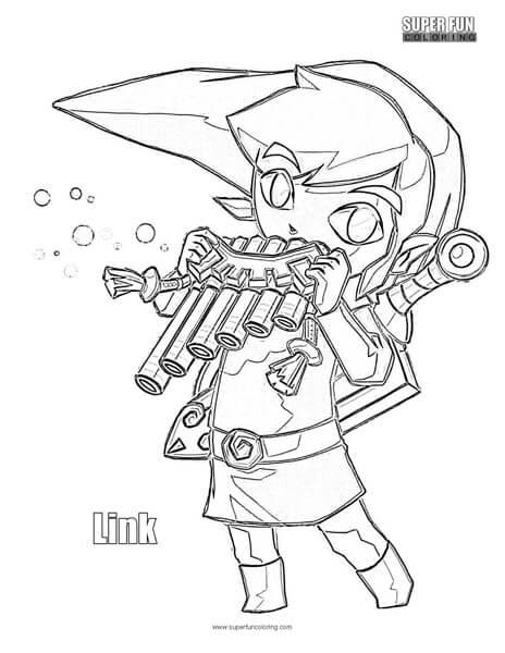 Link The Legend of Zelda Coloring Page
