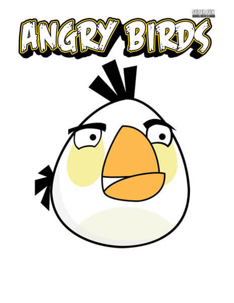 White Bird Angry Birds Coloring Page