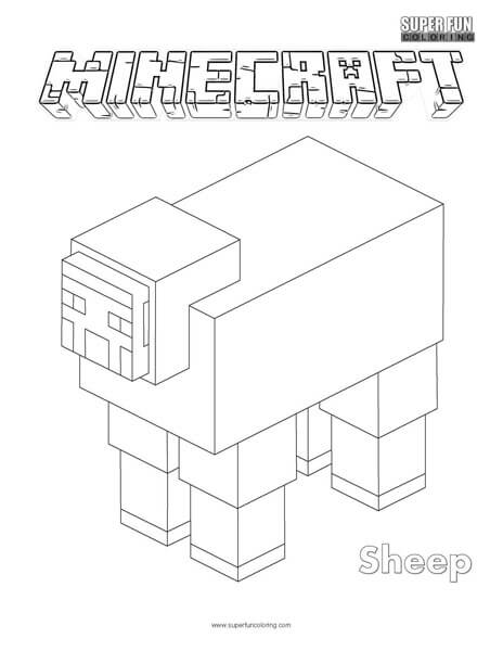 Sheep Minecraft Coloring