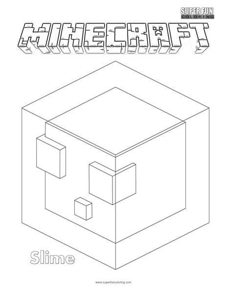 Slime Minecraft Coloring