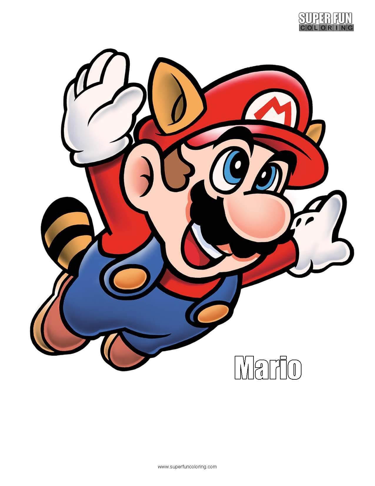 Super Mario Coloring Sheet