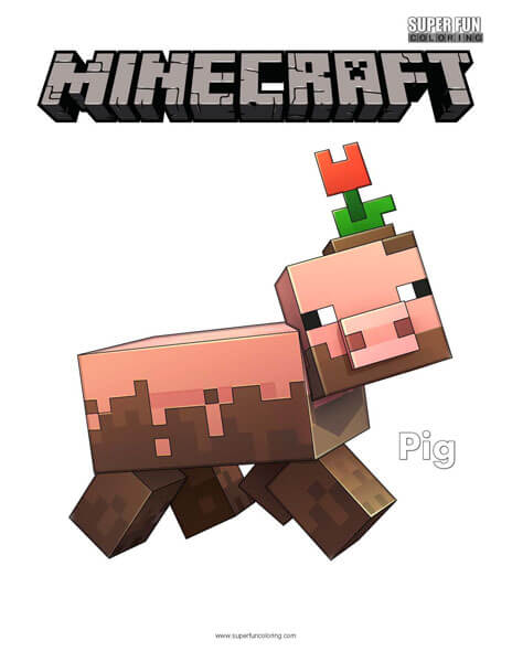 Pig Minecraft Coloring
