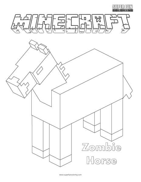 Zombie Horse Minecraft Coloring