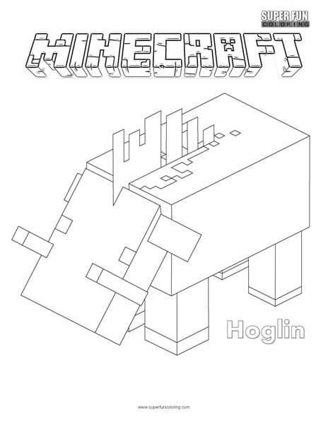 Hoglin Minecraft Coloring