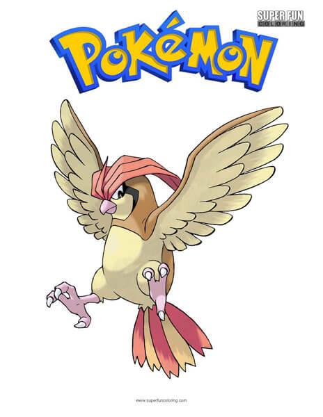 Pidgeotto Pokemon Coloring Page