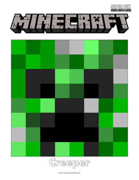 Minecraft Creeper Coloring Page