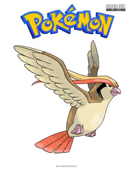 Pidgeot Pokemon Coloring Page
