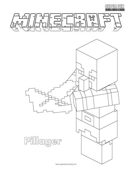 Pillager Minecraft Coloring