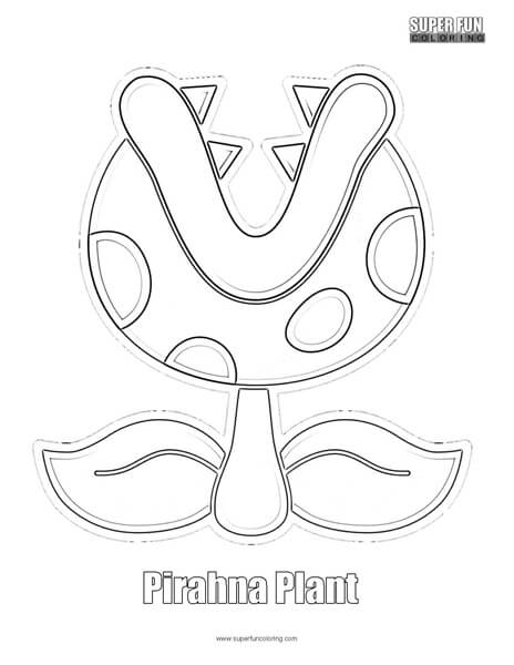 Pirahna Plant Coloring Page Nintendo