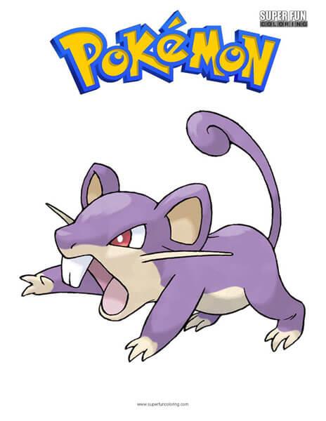 Rattata Pokemon Coloring Page