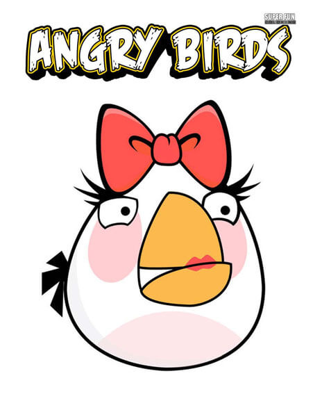 Matilda Angry Birds Coloring Page