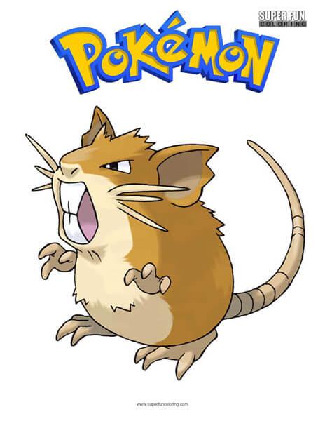 Raticate Pokemon Coloring Page