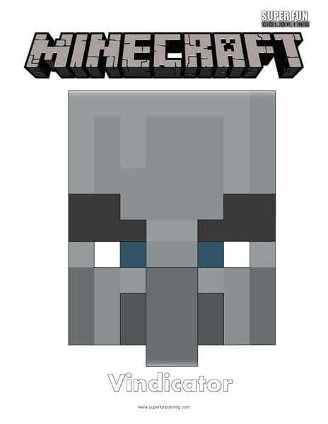 Minecraft Wolf Face Coloring Page