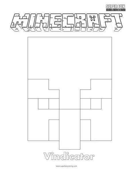 Vindicator Minecraft Coloring