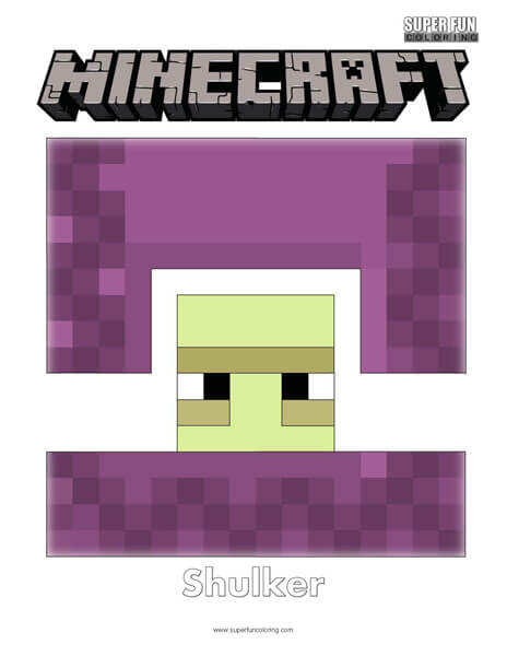 Minecraft Shulker Coloring Page
