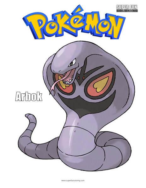 Arbok Pokemon Coloring Page